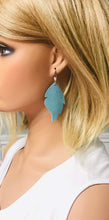 Load image into Gallery viewer, Blue Green Soft Leather Earrings - E19-1492
