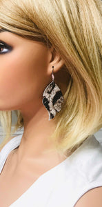 Hair On Snow White Leopard Leather Earrings - E19-1511