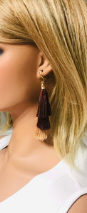 Brown Ombre Tassel Earrings - E19-153