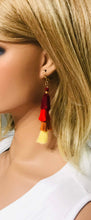 Load image into Gallery viewer, Red Ombre Tassel Earrings - E19-154