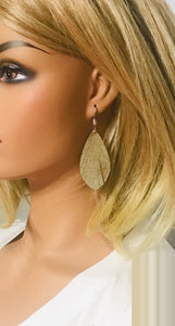 Platinum Goat Leather Earrings - E19-1550