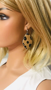Hair On Leopard Leather Earrings - E19-1558