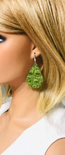 Load image into Gallery viewer, Green Alligator Leather Earrings - E19-1564