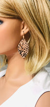 Load image into Gallery viewer, Light Peach Snake Skin Leather Earrings - E19-1568