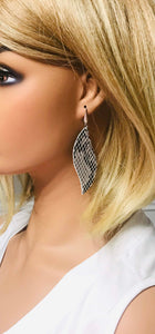 Boa White and Black Python Leather Earrings - E19-1610