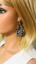Load image into Gallery viewer, Baby Chocolate Cheetah Cork Leather Earrings - E19-1611