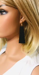 Amazon Cobra Leather Earrings - E19-1626