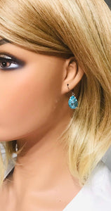 Light Blue Teardrop Glass Earrings - E19-162