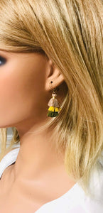 Tri-Color Tassel Earrings - E19-164