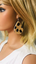 Load image into Gallery viewer, Hair On Leopard Leather Earrings - E19-1803