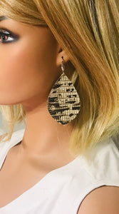 Genuine Snake Skin Leather Earrings - E19-1818