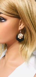 Charcoal Genuine Leather Earrings - E19-184
