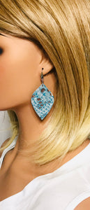 Turquoise Python Leather Earrings - E19-1927