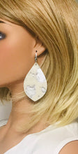 Load image into Gallery viewer, Hair On Metallic Silver Leather Earrings - E19-2052