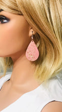 Load image into Gallery viewer, Rose Gold Genuine Leather Earrings - E19-213