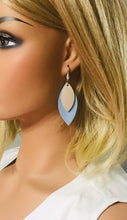 Load image into Gallery viewer, Baby Blue Genuine Leather Earrings - E19-214