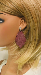 Swarovski Crystal and Leather Stud Earrings - E19-2371