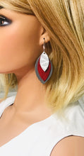 Load image into Gallery viewer, Leather Leaf Layered Earrings - E19-239