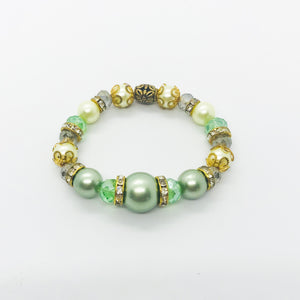 Glass Bead Stretchy Bracelet - B268
