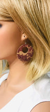 Load image into Gallery viewer, Purple Portuguese Cork Earrings - E19-278
