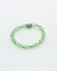 Glass Bead Stretchy Bracelet - B295
