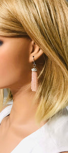 Pink Boho Style Glass Bead Tassel Earrings - E19-310