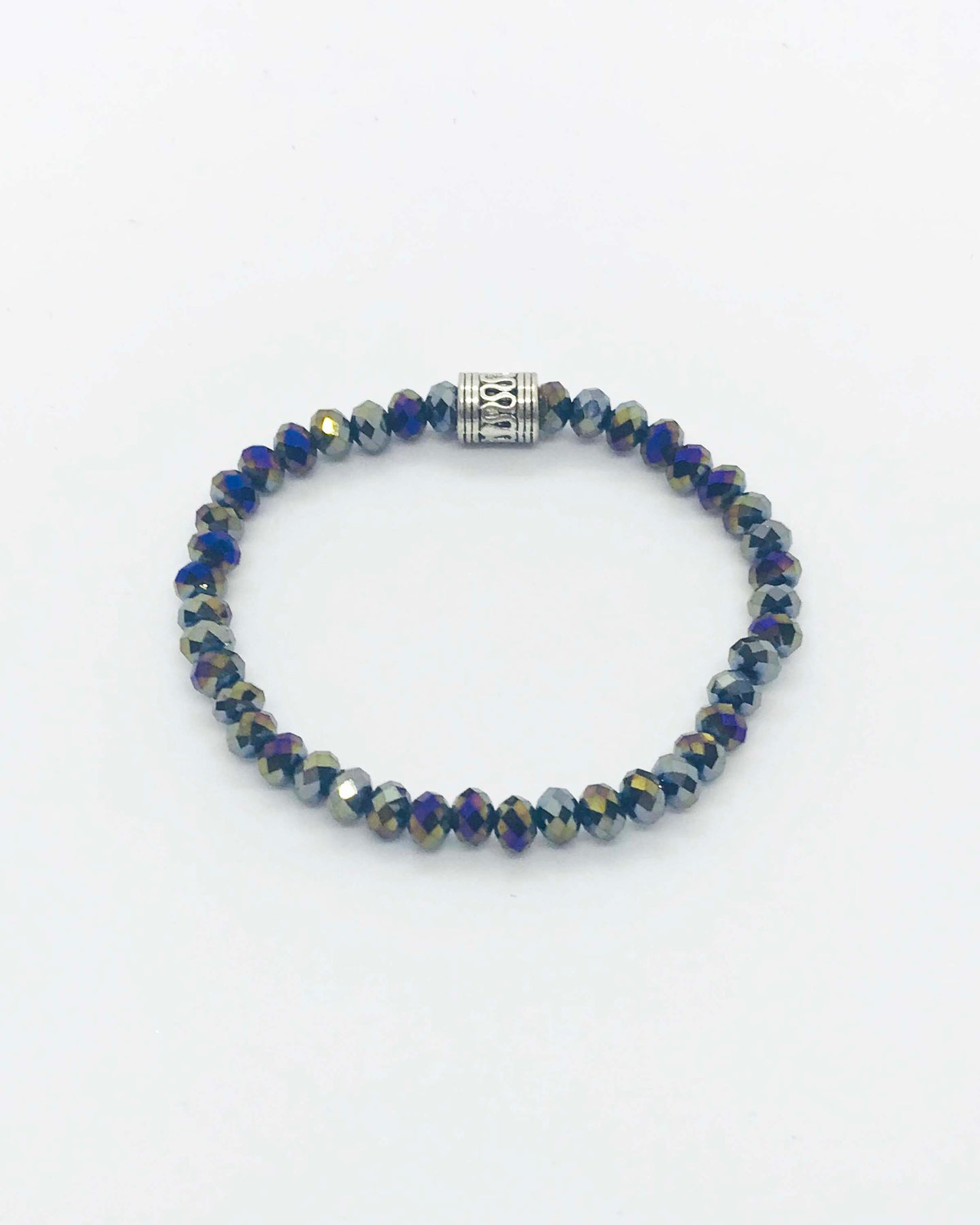 Glass Bead Stretchy Bracelet - B320