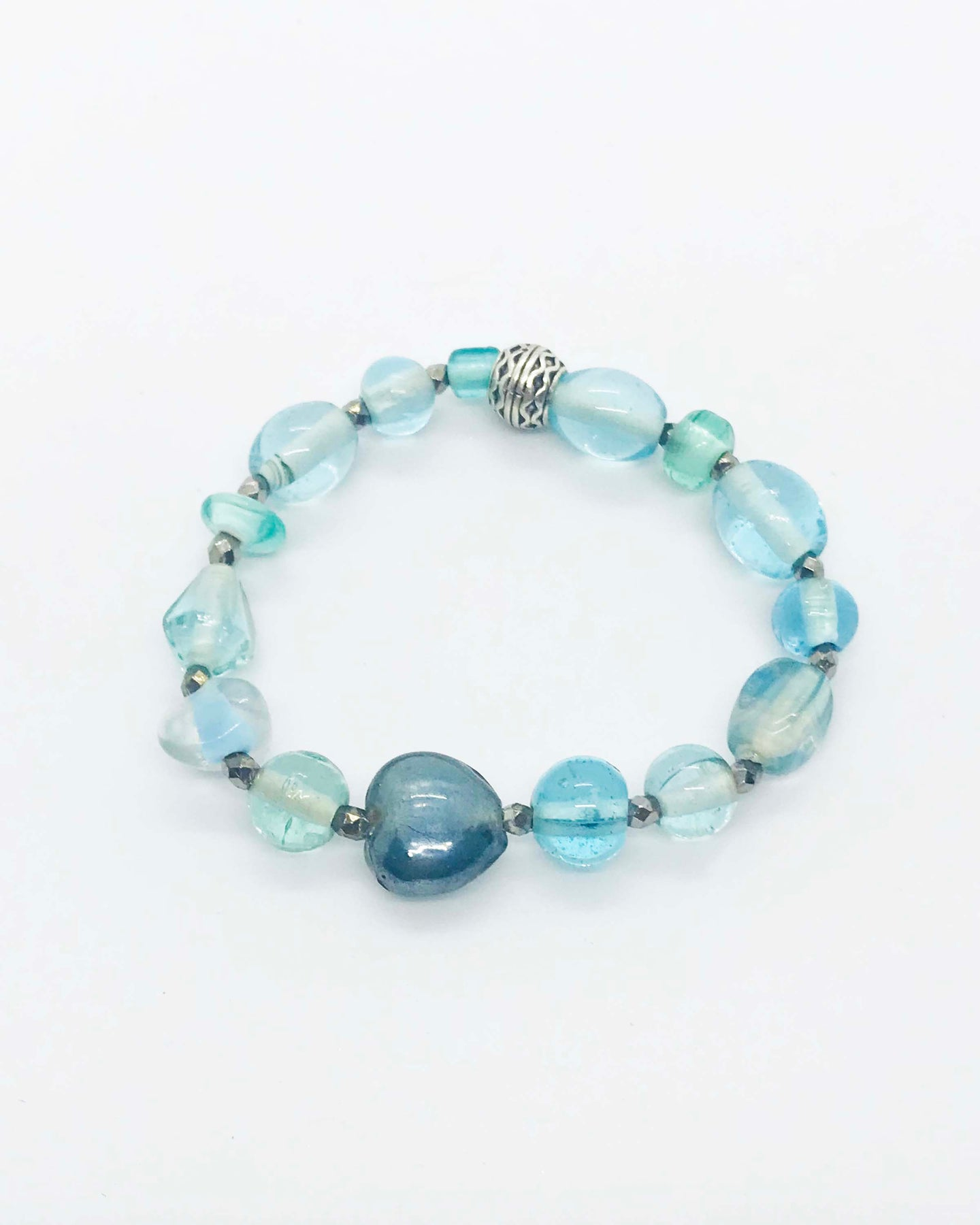 Glass Bead Stretchy Bracelet - B343
