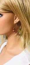 Load image into Gallery viewer, Glass Bead Hoop Earrings - E19-344