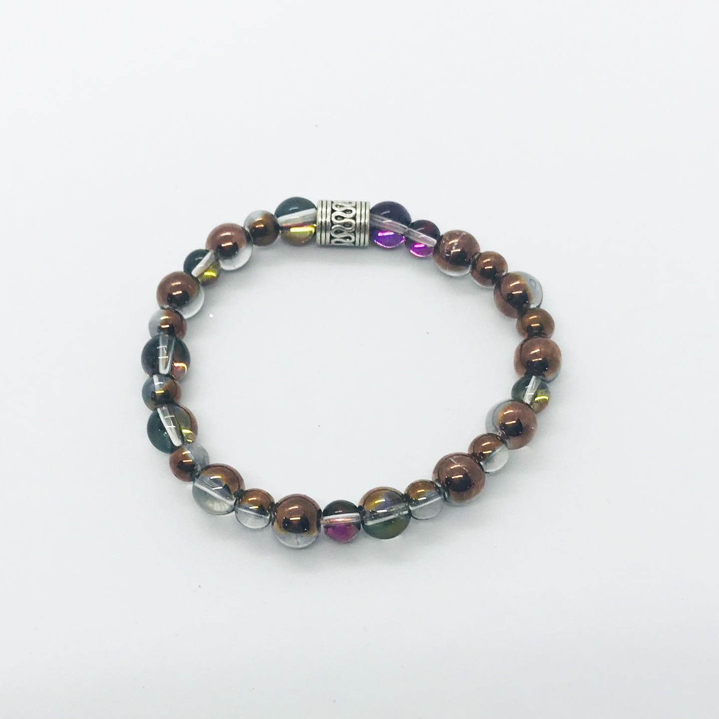 Glass Bead Stretchy Bracelet - B357