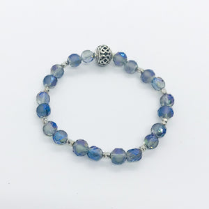 Glass Bead Stretchy Bracelet - B362