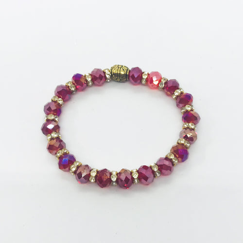 Glass Bead Stretchy Bracelet - B366