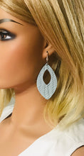 Load image into Gallery viewer, Baby Blue Italian Leather Earrings - E19-369