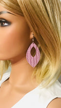 Load image into Gallery viewer, Purple Italian Leather Earrings - E19-370
