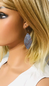 Genuine Snakeskin Leather Hoop Earrings - E19-374