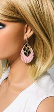 Load image into Gallery viewer, Pink and Cheetah Genuine Leather Earrings - E19-375