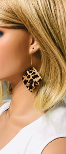 Genuine Cheetah Leather Earrings - E19-379