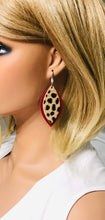 Load image into Gallery viewer, Genuine Hair On Leather Earrings - E19-402