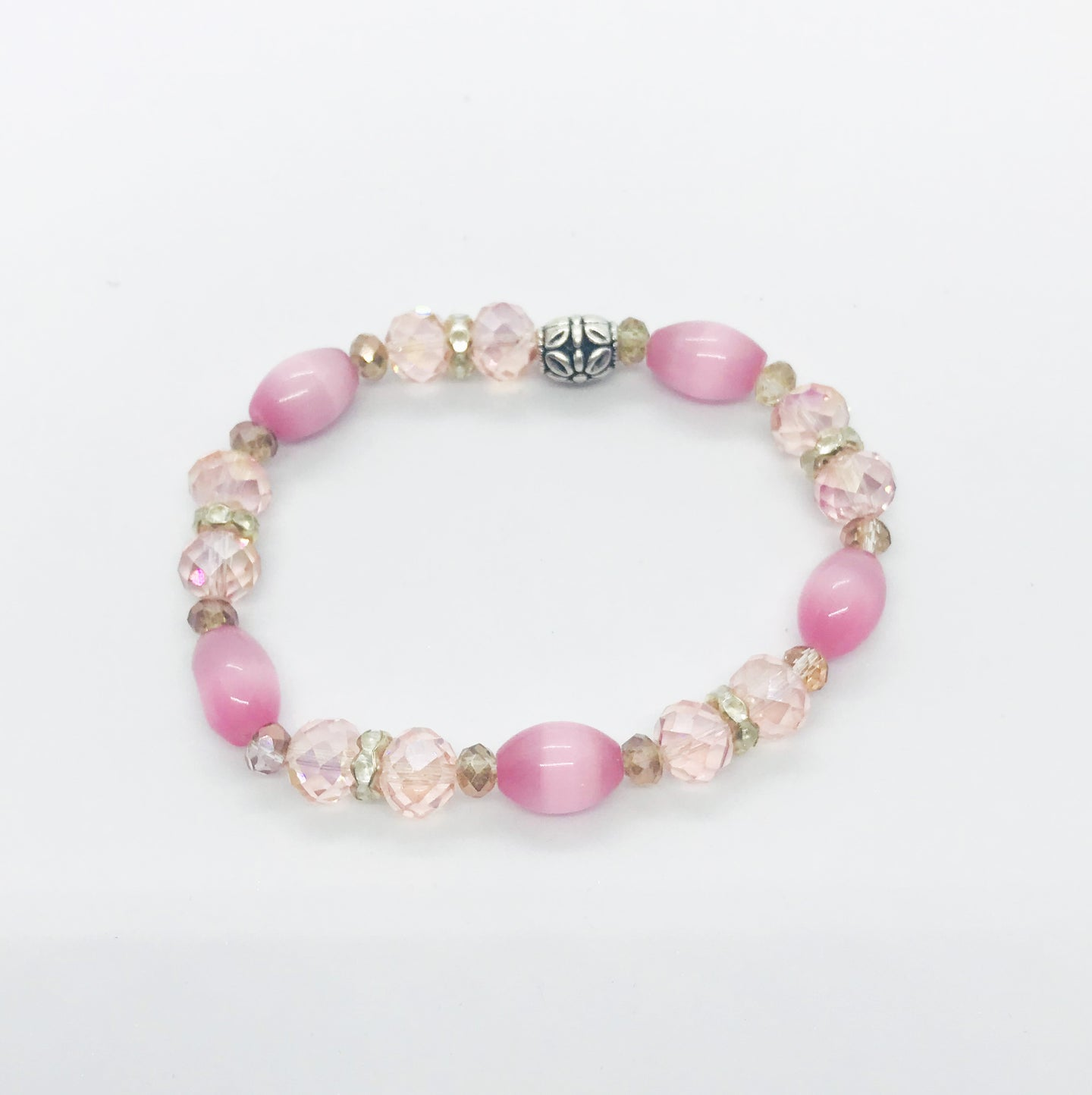 Glass Bead Stretchy Bracelet - B403
