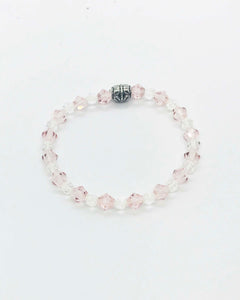 Glass Bead Stretchy Bracelet - B410