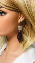 Load image into Gallery viewer, Leather and Chunky Glitter Earrings - E19-414