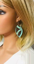 Load image into Gallery viewer, Mint and Teal Genuine Leather Earrings - E19-417