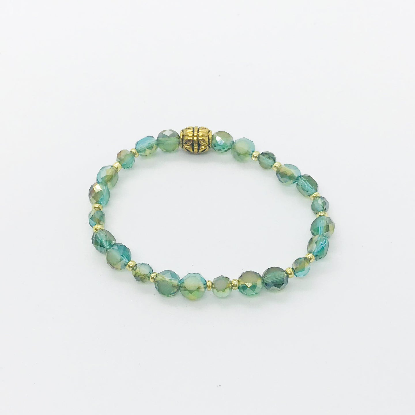 Glass Bead Stretchy Bracelet - B419