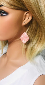 Rose Gold Genuine Leather Earrings - E19-422