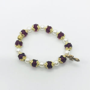 Glass Bead Stretchy Bracelet - B431