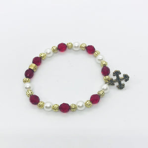 Glass Bead Stretchy Bracelet - B433