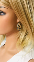 Load image into Gallery viewer, Genuine Hair On Leather Earrings - E19-439