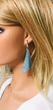 Load image into Gallery viewer, Light Turquoise Sequin Earrings - E19-446