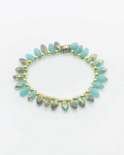 Glass Bead Stretchy Bracelet - B455