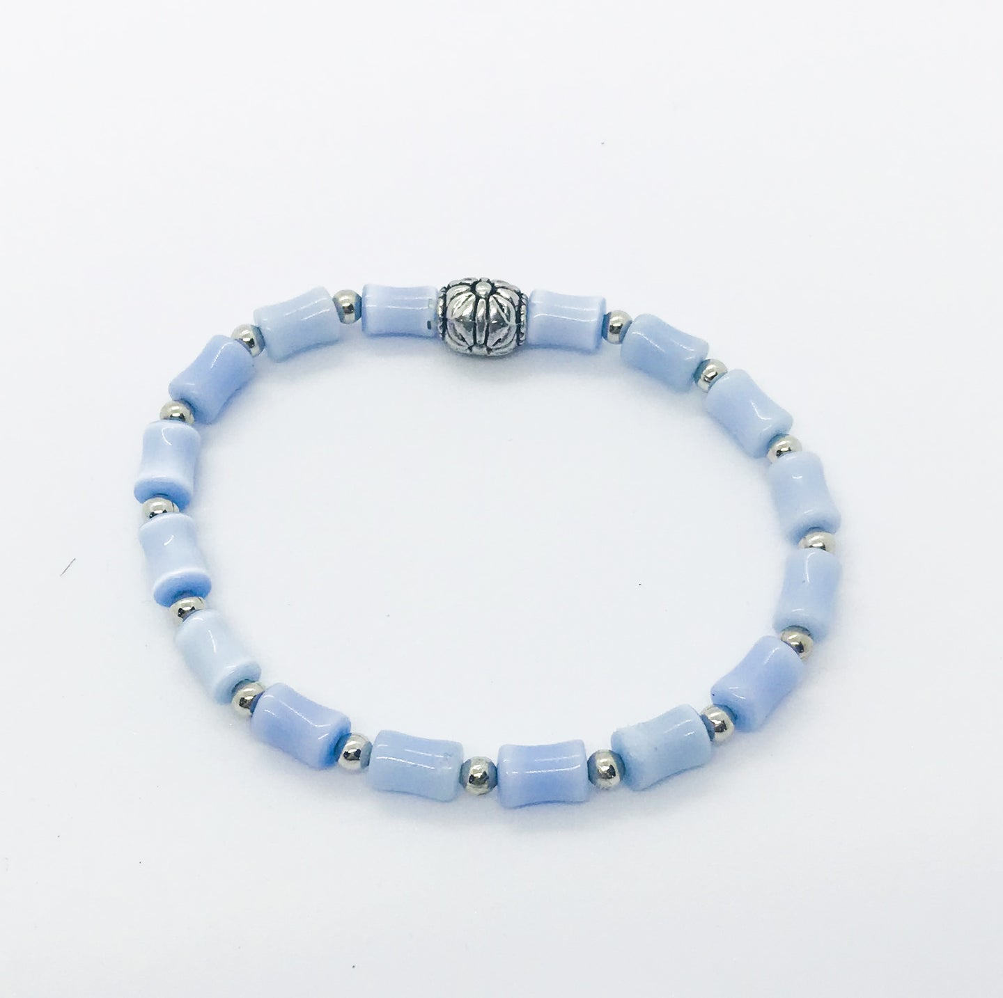 Glass Bead Stretchy Bracelet - B458